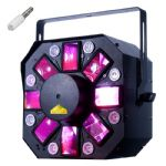 American DJ ADJ Stinger II 3 FX IN 1 Light LED Moonflower + Red Green Laser + UV